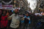La protesta di sindacati e studenti, Argentina