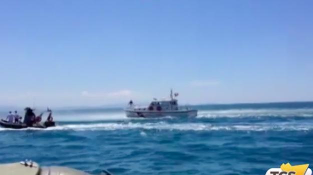 Trapani, i soccorsi ad una donna al largo delle isole Egadi