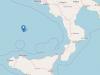 L'epicentro della scossa di terremoto 4.6 registrata nel mar Tirreno meridionale - Ingv