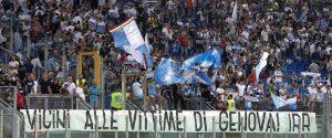 I tifosi della Lazio per il match contro il Napoli