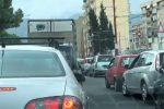 Traffico in via Regione siciliana all'altezza di corso Calatafimi