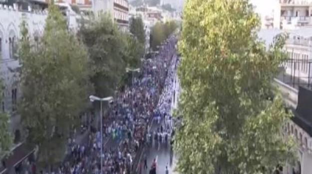 """Messina, folla di gente per la processione della Vara: """"Una festa di popolo"""""""