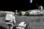 Rappresentazione artistica di una futura base lunare (fonte: ESA)