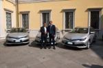 Toyota consegne tre veicoli Hybrid Electric a Comune Bergamo
