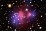 Elaborazione grafica della distribuzione della materia oscura (fonte: NASA/STScI)