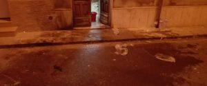 L'ingresso secondario dello Sprar di Grammichele (fonte Facebook - Kalat News)