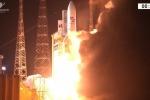 Il centesimo lancio di Ariane 5, dalla base europea di Kourou, nella Guiana francese (fonte: Esa)