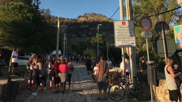 santa rosalia, strade chiuse, traffico palermo, Palermo, Cronaca