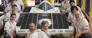 Archimede in gara sulla pista belga di Zolden, l'auto solare realizzata da un team siracusano