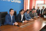 Catania, Candiani e Molteni incontrano il commissario di polizia aggredito
