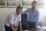 Juanito Gomez con il ds della Sicula Leonzio Mignemi