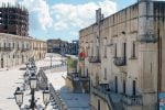 A sinistra palazzo Lombardo a Santa Margherita Belice
