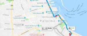 L'area del Foro Italico chiusa al traffico per la visita di papa Francesco a Palermo
