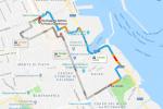 L'area chiusa al traffico da via Lincoln fino in via Ruggero Settimo per la visita di papa Francesco