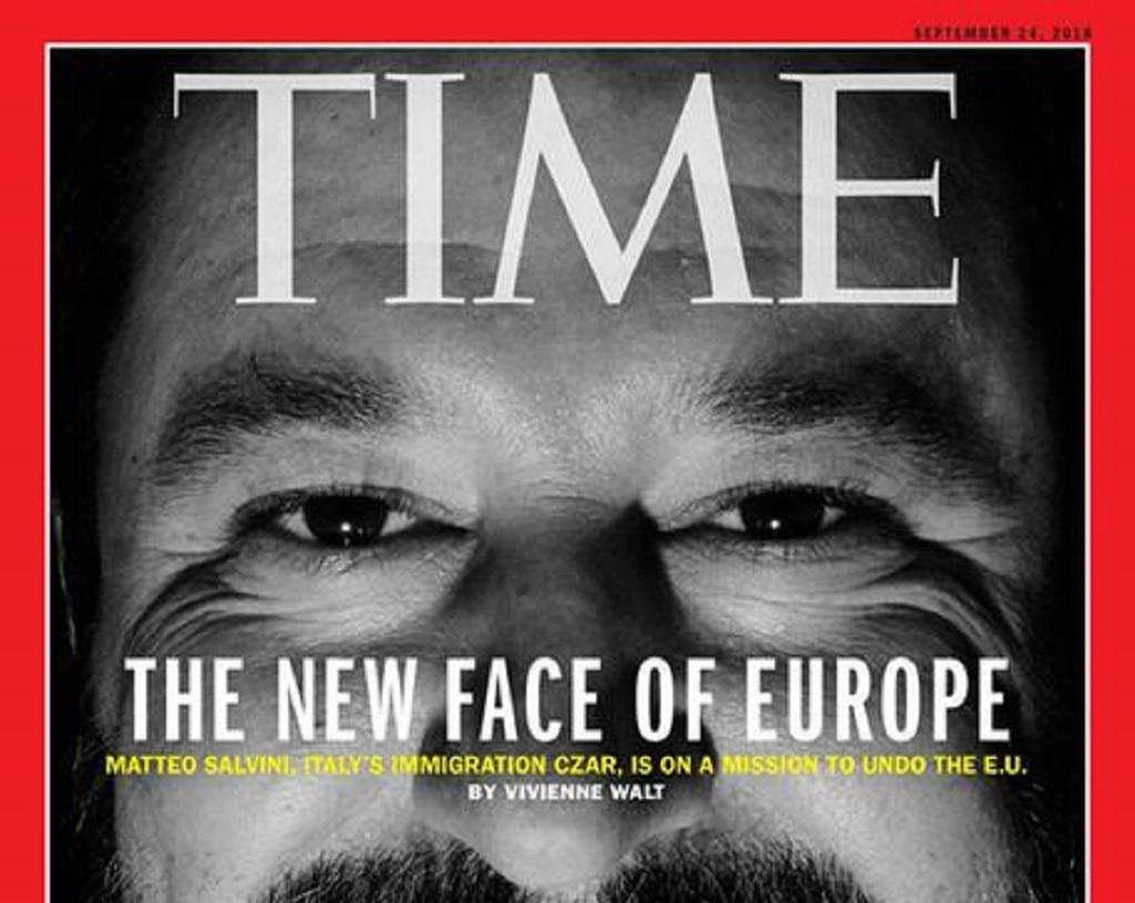 Salvini finisce sulla copertina del Time: