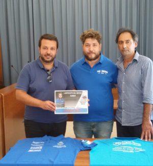 da sinistra: il sindaco Salvatore Greco, Salvo Murabito, il vice sindaco Alfio Di Paola