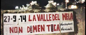 Valle del Mela, compaiono striscioni in ricordo del disastro avvenuto alla Raffineria di Milazzo