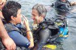 Battesimo del mare a Santa Tecla per festeggiare i 25 anni di subacquea per disabili