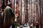 Pino Puglisi durante una delle sue messe all'aperto