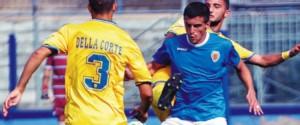 Federico Vazquez in azione contro la Paganese (foto Cilmi)