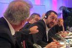 Un fermo immagine tratto dalla pagina Facebook di Matteo Salvini mostra un momento del diverbio tra lo stesso ministro dell'Interno e vicepremier italiano e il ministro degli Esteri del Lussemburgo Jean Asselborn. Vienna, 14 settembre 2018. +++ ATTENZIONE LA FOTO NON PUO ESSERE PUBBLICATA O RIPRODOTTA SENZA LAUTORIZZAZIONE DELLA FONTE DI ORIGINE CUI SI RINVIA+++