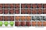 Esempi di trasformazione delle espressioni del volto, trasferite da un individuo a un altro (fonte: Carnegie Mellon University)