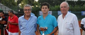 Lo spagnolo Caldes con Gabriele Palpacelli e Manlio Morgana