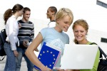 Giovani erasmus studenti - fonte: EC