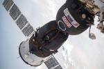 La navetta russa Soyuz MS-09 agganciata alla Stazione Spaziale Internazionale (fonte: NASA)