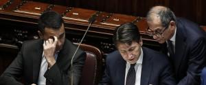 Luigi Di Maio, Giuseppe Conte e Giovanni Tria