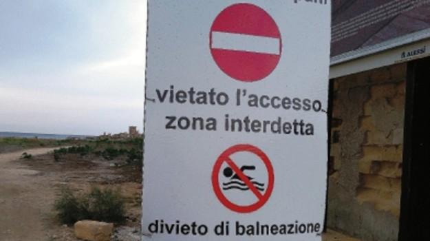 divieto di balneazione, fiume salso, inquinamento, licata, Marina di Cala del Sole, Agrigento, Cronaca
