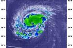 Le temperature nell'uragano Florence registrate il 10 settembre dal satellite Aqua raggiungono meno 56 gradi (fonte: NASA/NRL)