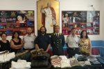 Barcellona, capi di abbigliamento sequestrati donati in beneficenza alla Caritas