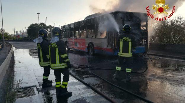 autobus a fuoco a Catania, Catania, Cronaca