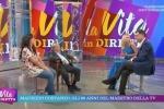 L'esordio al timone della trasmissione di Tiberio Timperi, uno dei talk show più visti del pomeriggio