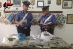 Blitz all'interno di un'abitazione a Canicattì, sequestrati due chili e mezzo di marijuana