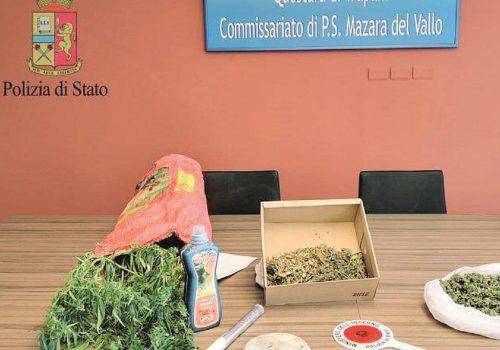 arresto mazara, cannabis, Trapani, Cronaca