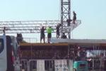La visita di Papa Francesco a Palermo, le immagini degli operai al lavoro al Foro Italico