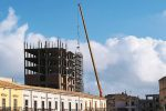 Ruspe in azione a S. Margherita Belice, inizia la demolizione di palazzo Lombardo