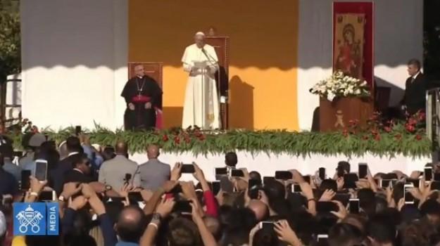 bergoglio in sicilia, papa a palermo, bergoglio, Papa Francesco, Sicilia, Cronaca