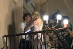 La fashion blogger Chiara Ferragni e il rapper Fedez a Palazzo Nicolaci per il party che precede il loro matrimonio