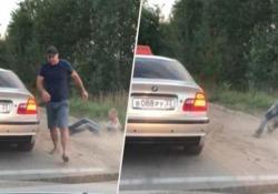 Il video ripreso da una dashcam su una strada alle porte di San Pietroburgo, in Russia