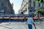 Il palco allestito al Politeama per la visita del Papa, Palermo (Foto Fucarini)