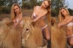 Attivisti per i diritti degli animali su tutte le furie per il servizio fotografico della 27enne Katya Sambuca