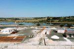 Il cantiere per la realizzazione dell'hotspot al porto commerciale di Augusta (foto Saraceno)