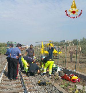 Il luogo in cui il ragazzino è stato investito dal treno a Paternò