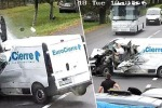Il video dell'incidente girato dalla videosorveglianza su una strada in Ucraina