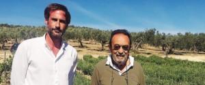 L'agronomo Francesco Bongiorno e Pietro D'Alì (foto Indelicato)