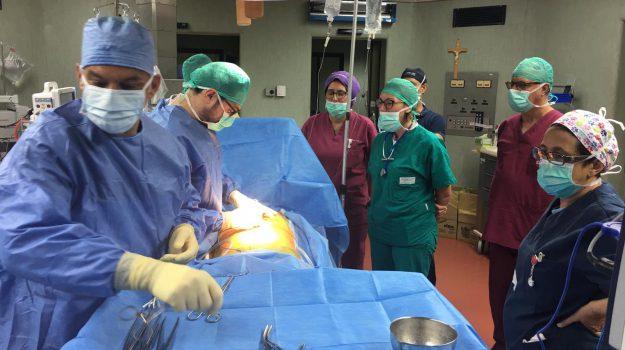 Un momento dell'operazione