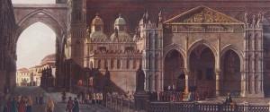 Franz Hegui Vue de la Cathédrale de Palerme